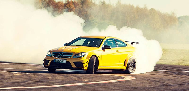 mercedes-c63-amg-coup-black-series-drift-slide