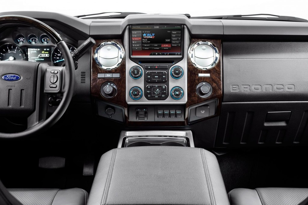 2016 ford svt bronco interior