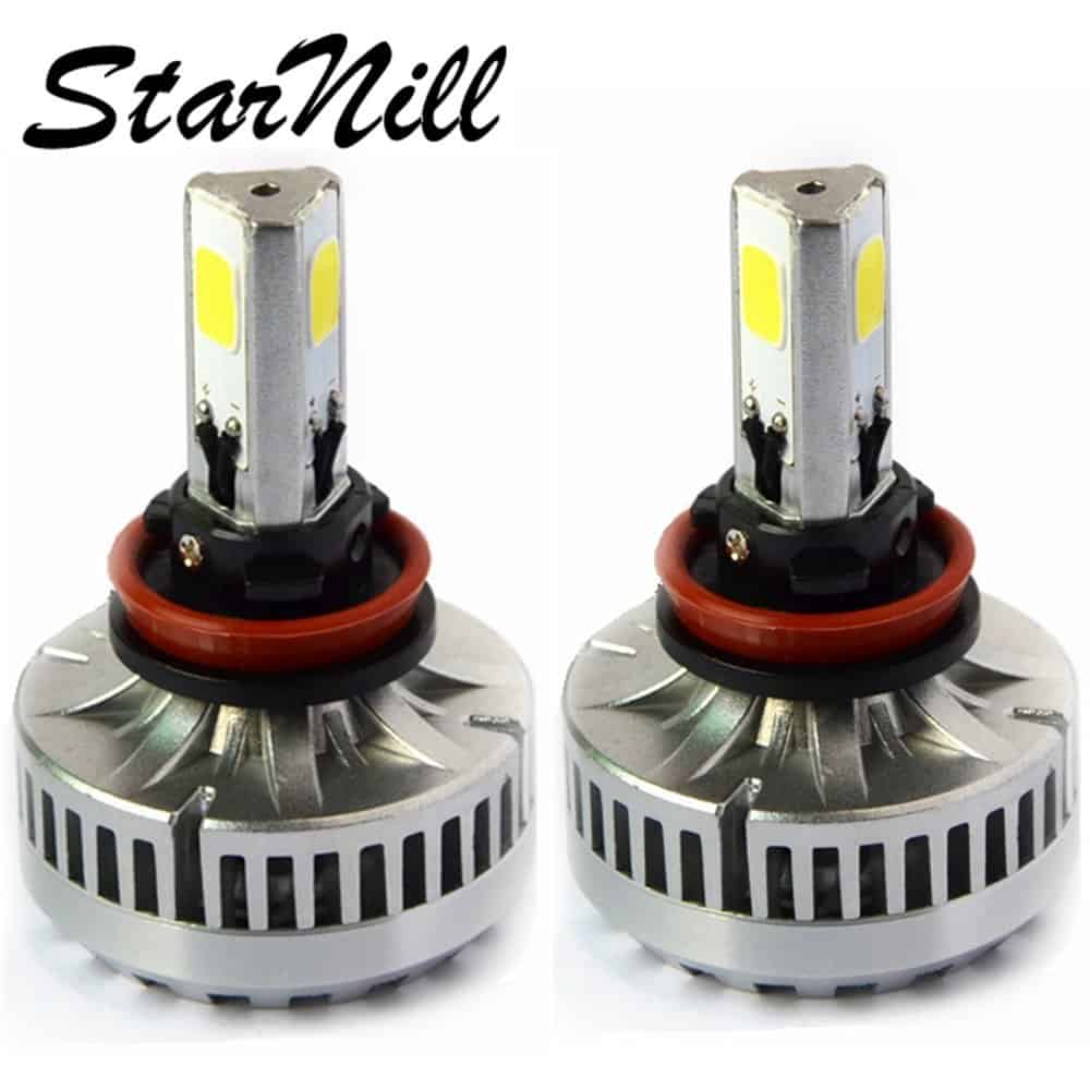 Roll over image to zoom in Starnill LED Headlight Conversion Kit - All Bulb Sizes - 80W 7200LM COB LED - Replaces Halogen & HID Bulbs (H11)