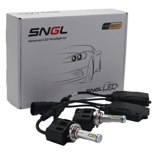 SNGL® Super Bright LED Headlight Bulbs - Adjustable Focus Length Conversion Kit - 9005 (H10 , HB3 , 9145) - 110w 10,400Lm 6000K Cool White - 2 Yr Warranty