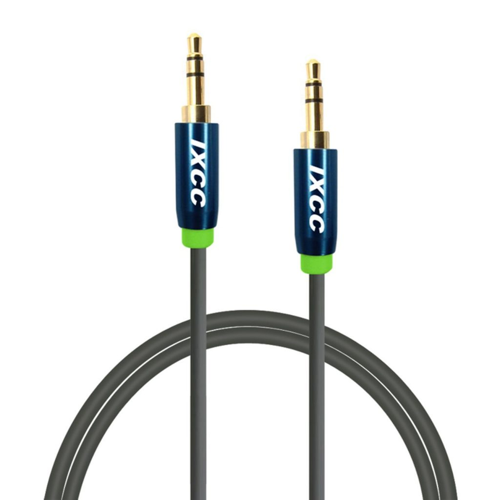 IxCC 3 Feet Tangle Free Male to Male 3.5mm Auxiliary Cable