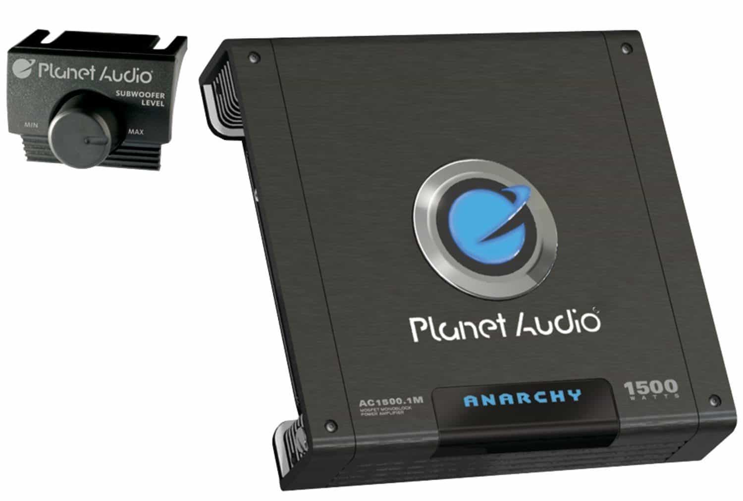 Planet Audio AC1500.1M ANARCHY 1500-Watt Monoblock Class A/B 2 to 8 Ohm Stable Monoblock Amplifier with Remote Subwoofer Level Control