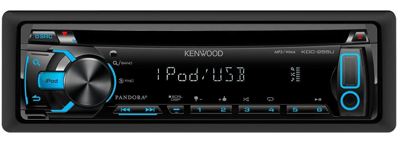 The KDC-255U Kenwood In-Dash CD Radio Receiver (USB + AUX)
