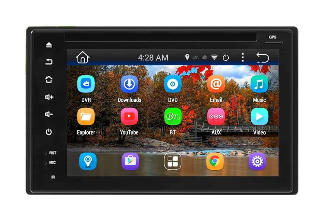 Pyle PLDNAND621- GPS Android Double Din - DVD Car Stereo, WIFI Hands-free Bluetooth