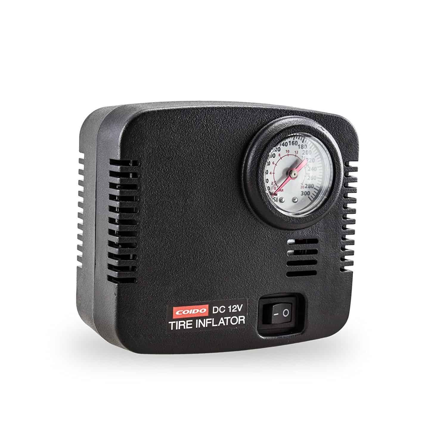 12v Portable Tire Inflator Air Compressor Pump ...