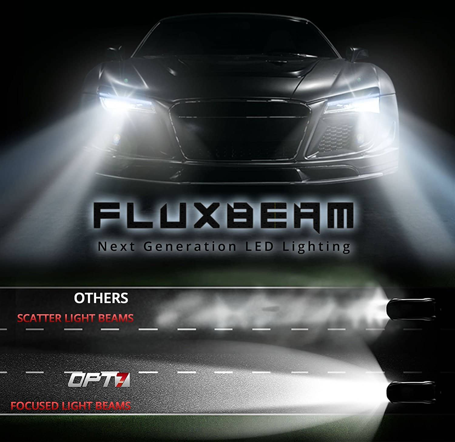 opt7 fluxbeam led headlight