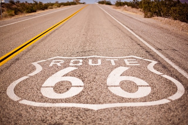 Route 66 winter road trip.