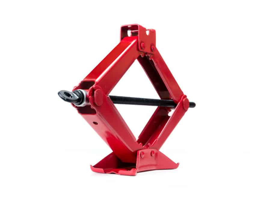 Red Steel Scissor Jack