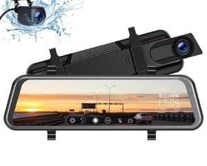 car rear view mirror with back up camera