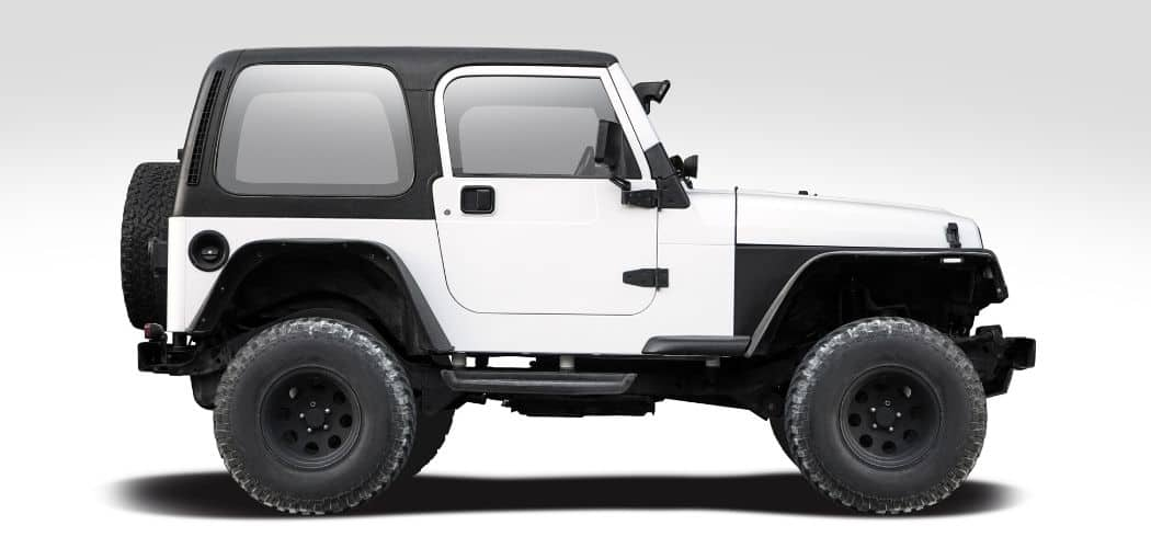 jeep illustration white with black soft top