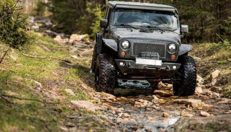 off road jeep with front bumper