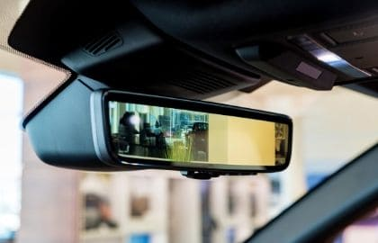 rear view mirror with screen of backup camera